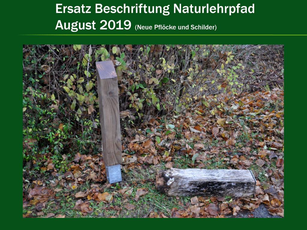 V002-Ersatz Beschriftung Naturlehrpfad 2019